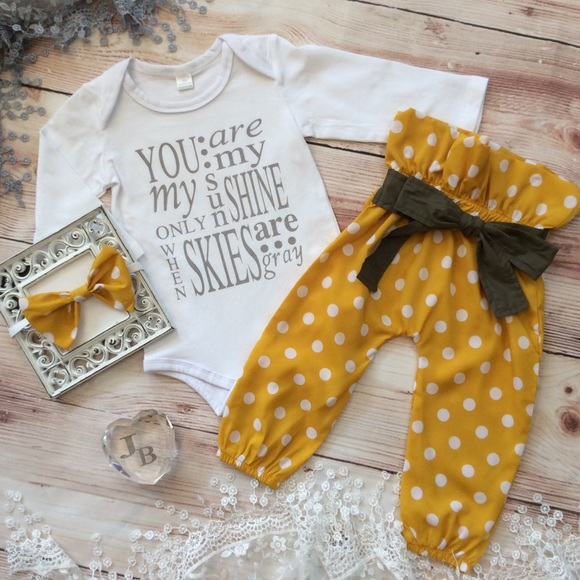 021b0af05 Matching Sets | Boutique Baby Girl You Are My Sunshine 3pc Outfit ...